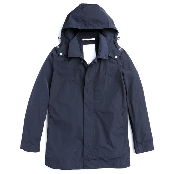 Norse Projects Men's Thor Mini Light Raincoat, Dark Navy