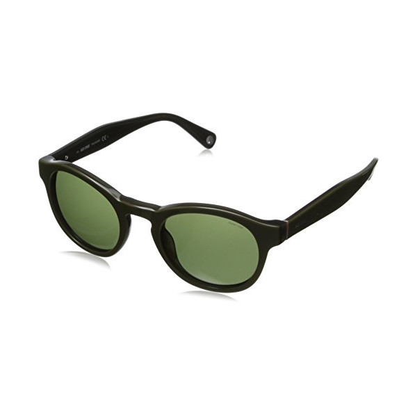 Jack Spade Men's Collin Polarized Round Sunglasses,Tank Green,48 mm