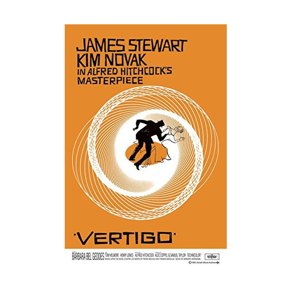 Vertigo-Alfred Hitchock, Movie Poster Print, 24 by 36-Inch