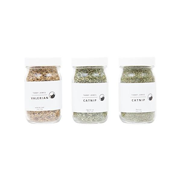 Tabby James - Premium Organic Catnip & Valerian Root Gift Set