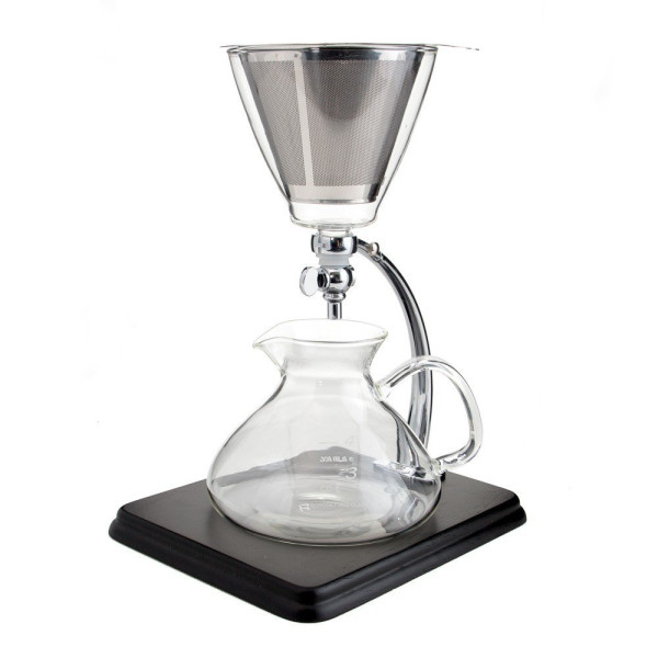 Yama Glass Yama Glass Silverton Coffee/Tea with Stainless Cone Filter, Clear