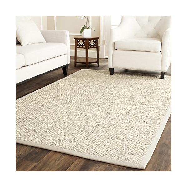 Safavieh Natural Fiber Collection NF525C Marble Sisal Area Rug (6' x 9')