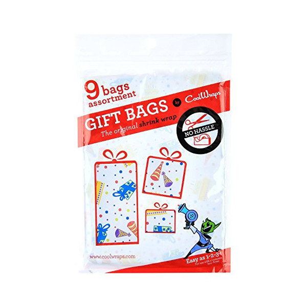 CoolWraps, Shrink Wrap Gift Bags, Celebration pattern