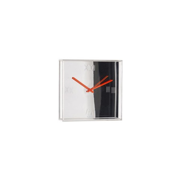 Kartell Tic Tac Modern Clock Metallic Chrome