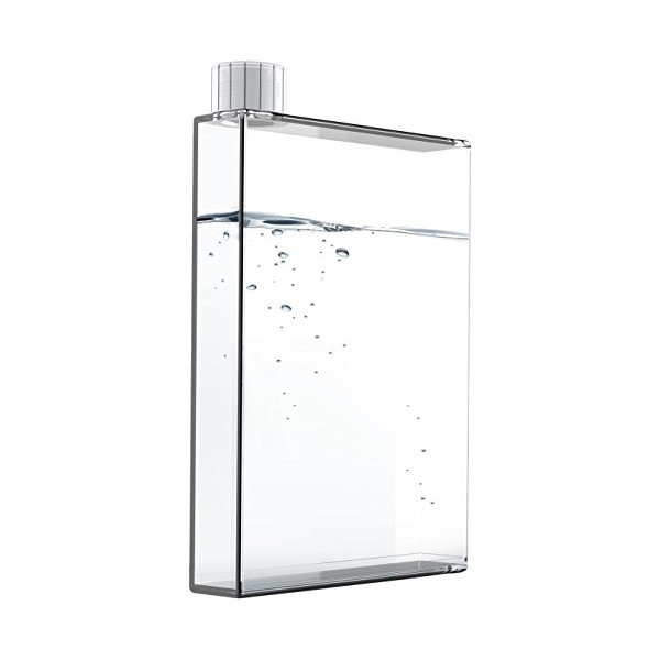 Asobu E Flask Plastic Water Bottle, 16 oz., Clear
