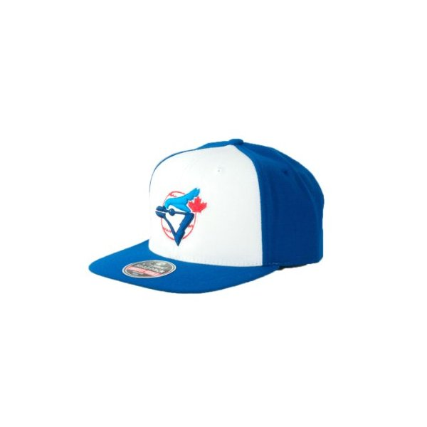 MLB Men's Toronto Blue Jays Cooperstown 400 Snapback Cap (White/Royal, Adjustable)