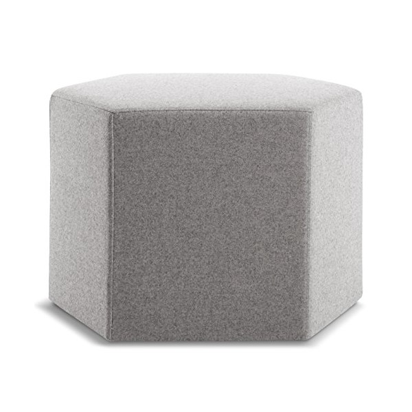 Blu Dot Hecks Ottoman, Thurmond Light Grey