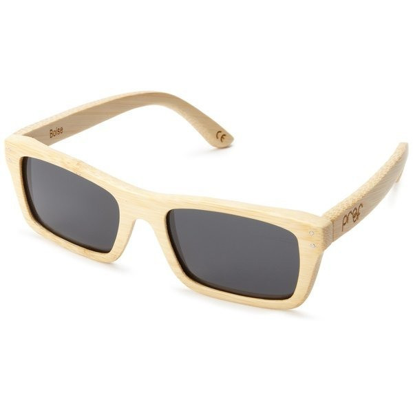 Proof Boise Polarized Oval Sunglasses, Bamboo
