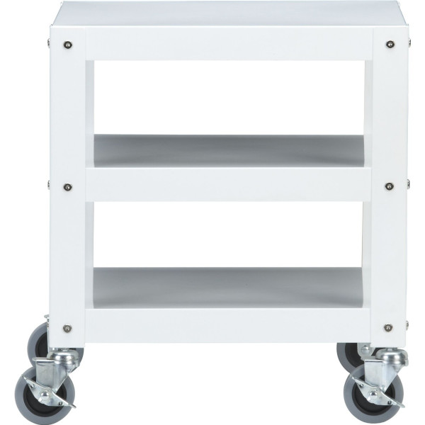 CB2 Go-cart White Rolling Table