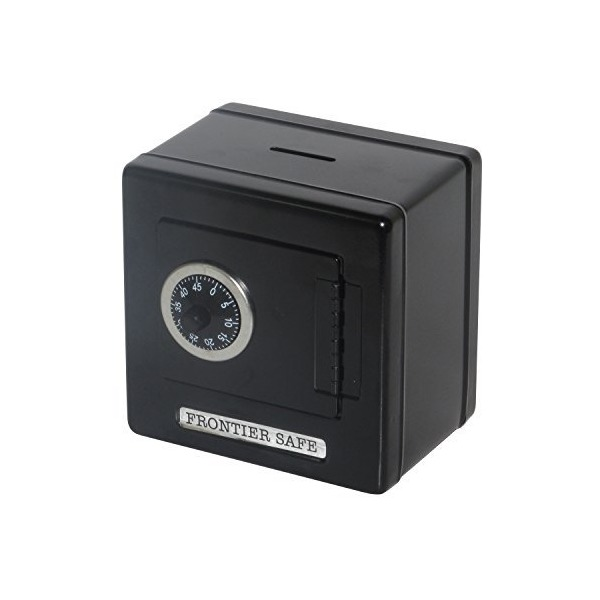 Children's Metal Coin Safe Bank (Black)