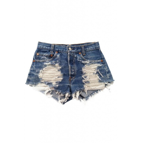 Women's Vintage Levi's Distressed Stone Dreamer High Waisted Cut-Off Shorts-M