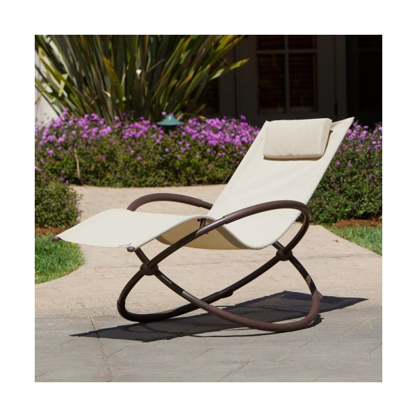 RST Outdoor OP-OL04-Bei Original Orbital Zero Gravity Patio Lounger