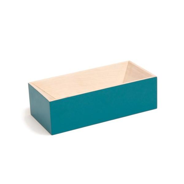 Les Briques Wooden Storage Box - Turquoise