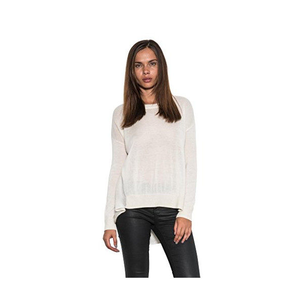 Glade Light Cashmere Luxe Soft Pullover Sweater Women's Long Sleeve Ivory-L