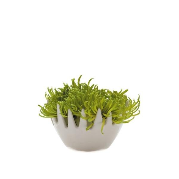 Chive Gideon Fuzzy Vase, White