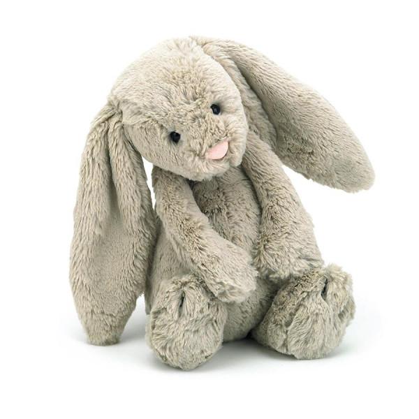"Jellycat Bashful Beige Bunny, Medium, 12"""