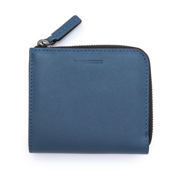 Norse Projects Men's Marko 11 Zip Wallet, Slate Blue
