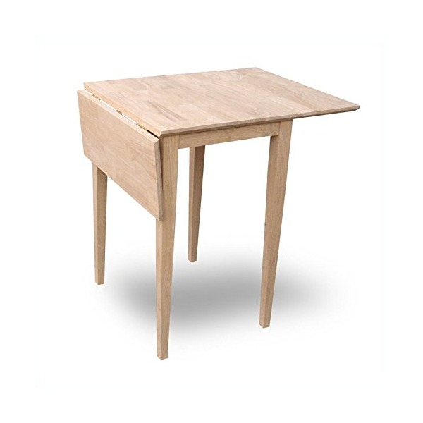 International Concepts T-2236D Small Drop-leaf Table, Unfinished