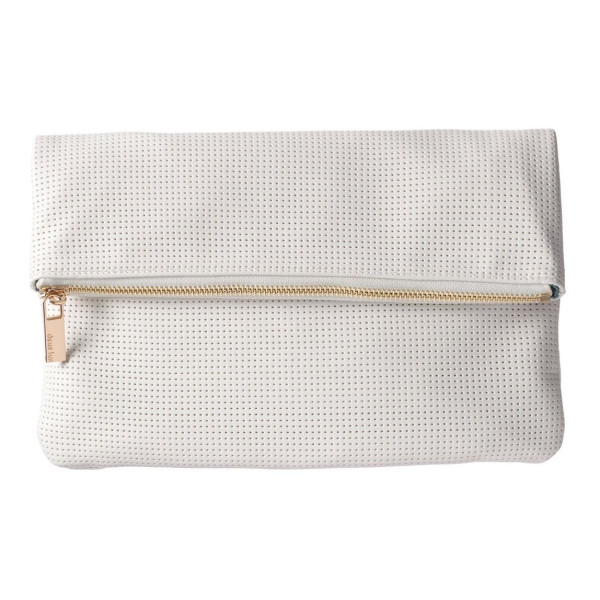 Deux Lux Women's Exclusive Perforated Foldover Clutch