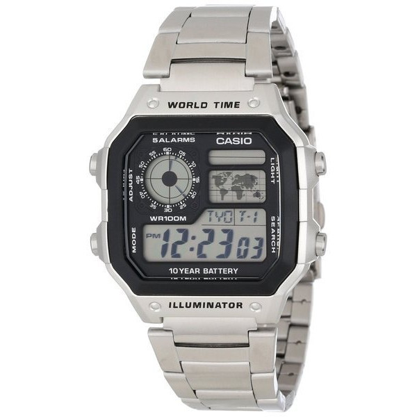 Casio Men's Stainless Steel Digital Watch