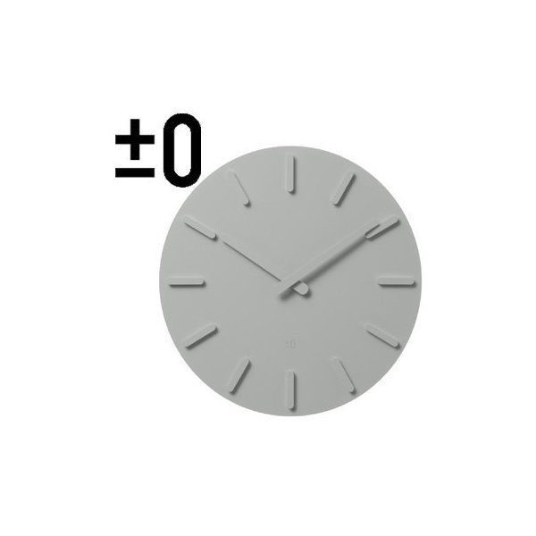 ± 0 plus minus zero wall clock (gray) ZZC-S010 (H)