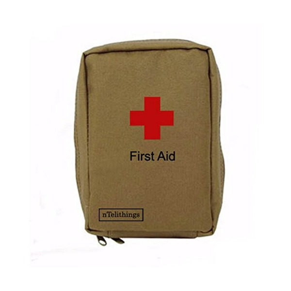 First Aid Kit Compact For Emergency Preparedness Home Office Job Site Camping Survival Hunting Biking Motorcycle Bug-out Bags Split-kits