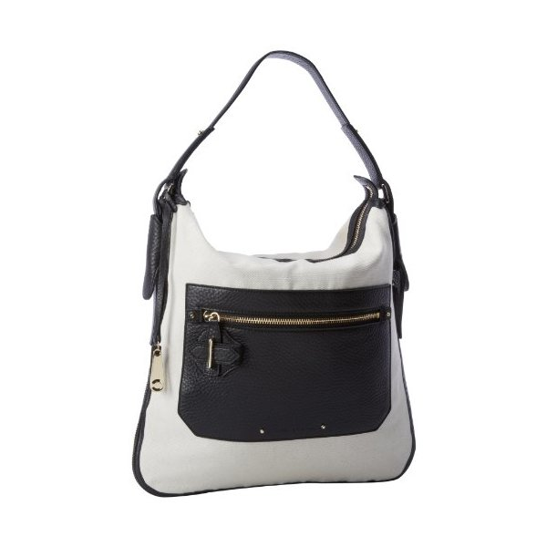 10 Crosby Derek Lam Hobo,Black/Chalk,One Size