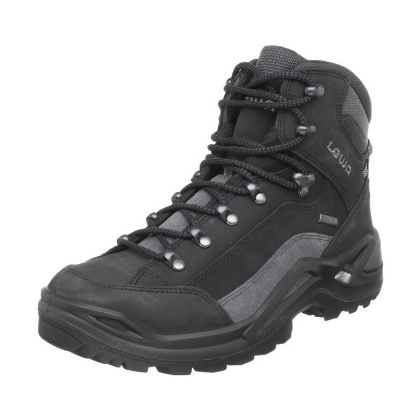 Lowa Men's Renegade GTX Mid Hiking Boot,Black/Grey,8 M US