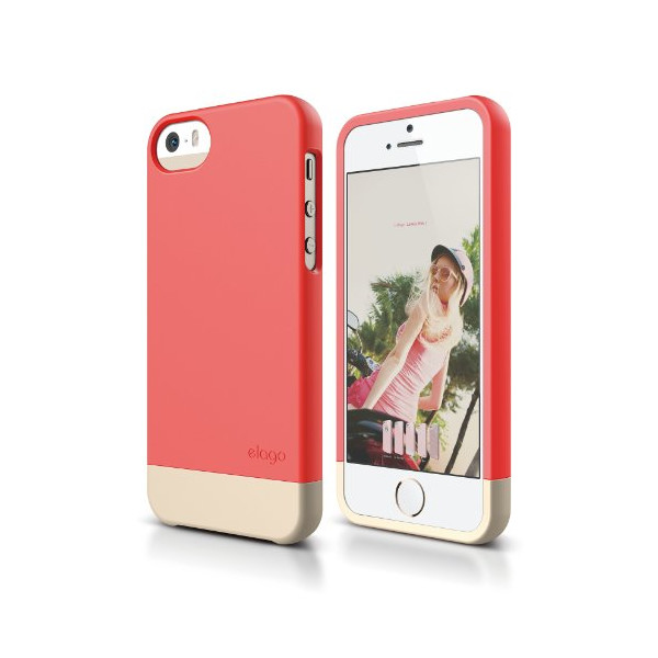 elago S5 Glide Case Limited-Edition for iPhone 5/5S - eco friendly Retail Packaging (Italian Rose / Champagne Gold)