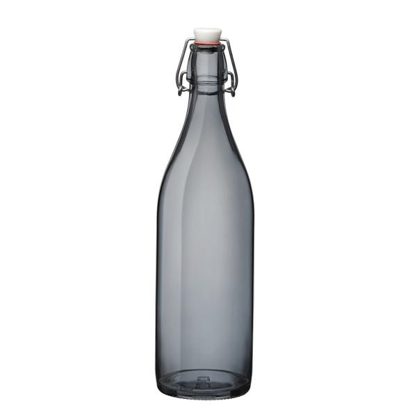 Bormioli Rocco Giara Bottle, 33.75-Ounce, Gray
