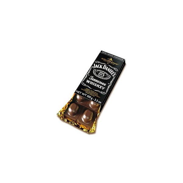 Jack Daniels Whiskey Filled Chocolate Bar by Goldkenn - 100gr (3.5 Oz)