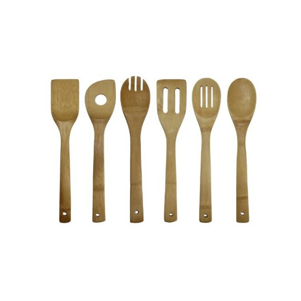 Oceanstar Bamboo Cooking Utensil Set, 6-Piece