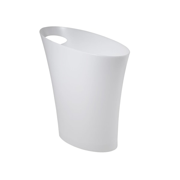 Umbra Skinny Polypropylene Waste Can, Metallic White