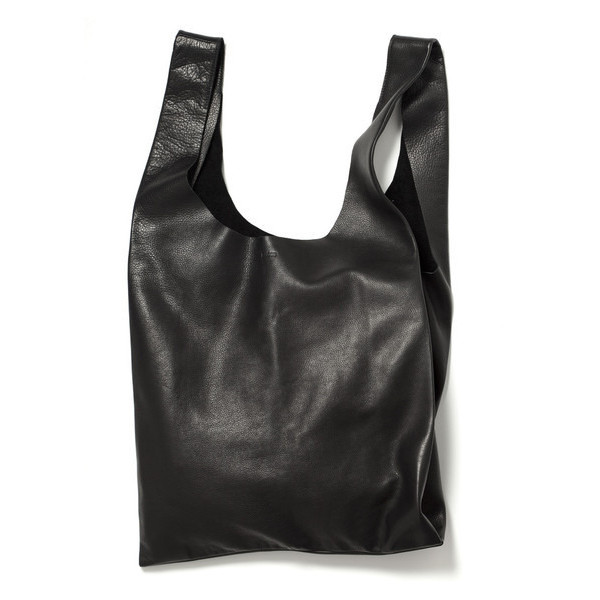 Baggu Black Leather Bag
