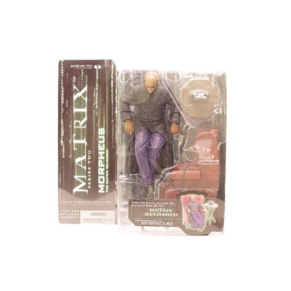 The Matrix Morpheus in Chair Series 2 Action Figure Mcfarlane Toys