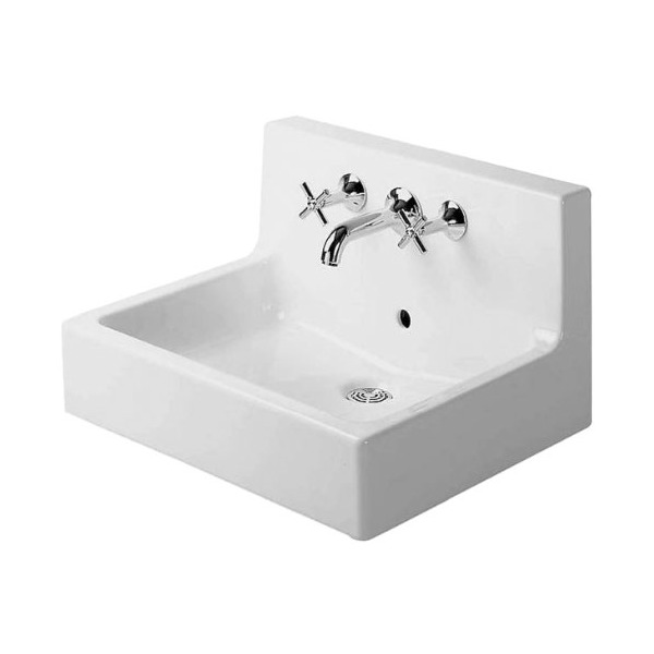 Duravit 04536000001 Vero Three-Hole Wash Basin, White Finish
