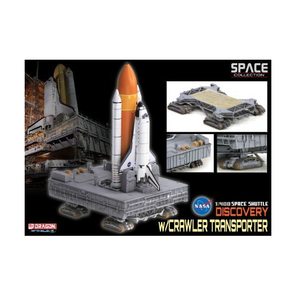 """Dragon Models Space Shuttle """"Discovery"""" with Crawler Transporter Building Kit, 1/400-Scale by Dragon Models [Toy]"""