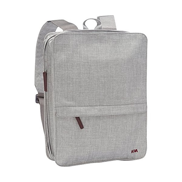 Nava Bellows Backpack (Light Grey)