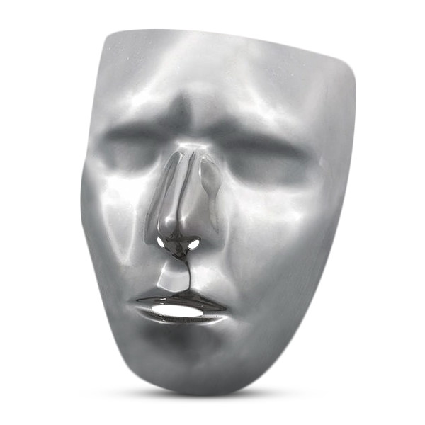 Disguise Costumes Blank Chrome Mask, Adult