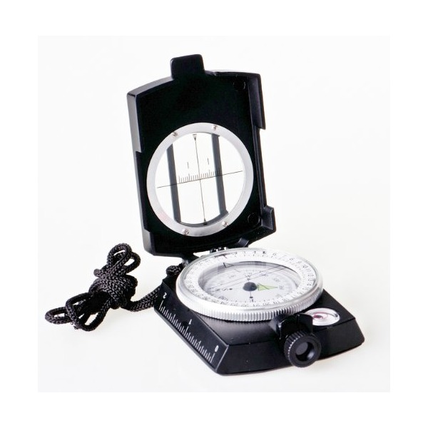 Huntington MG2 Black Military Bearing / Lensatic Compass, Professionally Liquid-Dampened, Full Metal Body with Bearing Prism / Lens System (K4580 BL US)
