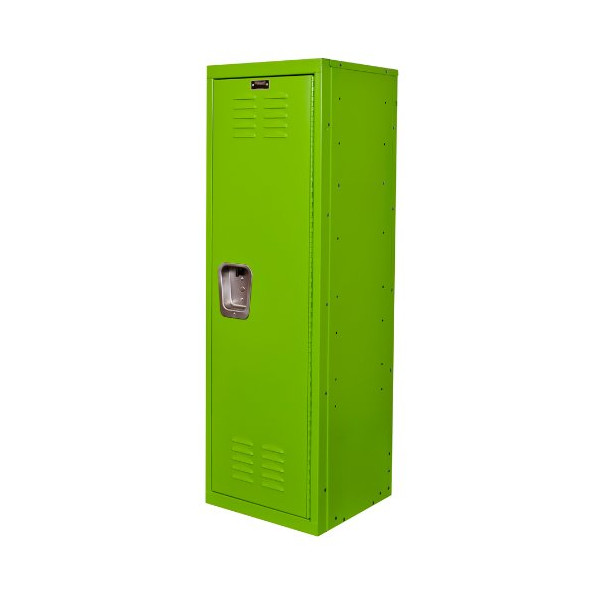 "Hallowell Kid Locker, 15""W x 15""D x 48""H, 1134 Sour Apple (green), Single Tier, 1-Wide, Knock-Down"