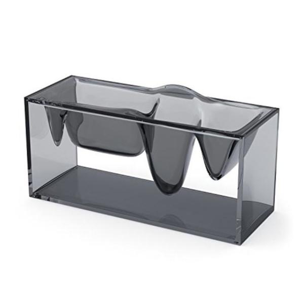 Lexon Grey Transparent Acrylic Desktop Organizer
