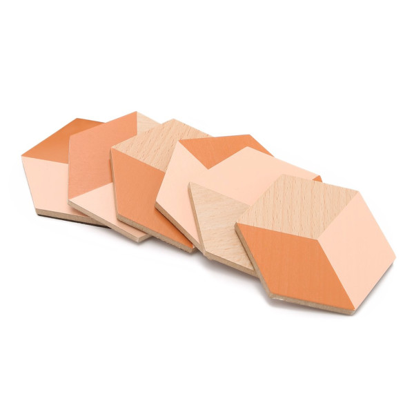 Areaware Table Tiles, Terracotta