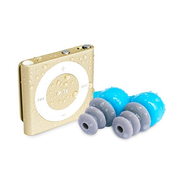 [NEW] Waterfi Waterproof iPod Shuffle Swim Kit with PlatinumX Waterproofing Technology - 2015 Version (Gold)