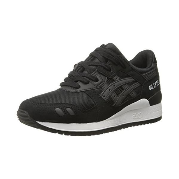 ASICS Gel Lyte III Retro Running Shoe, Black/Black, 5 M US