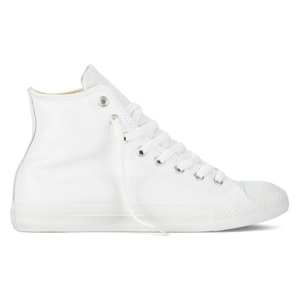 Converse Chuck Taylor All Star Shoes Leather Hi White Monochrome