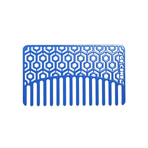Blue Hexagon Go-Comb - Wallet & Travel Hair Comb