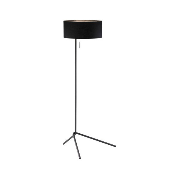 Adesso 6191-01 Twixt Floor Lamp, Black