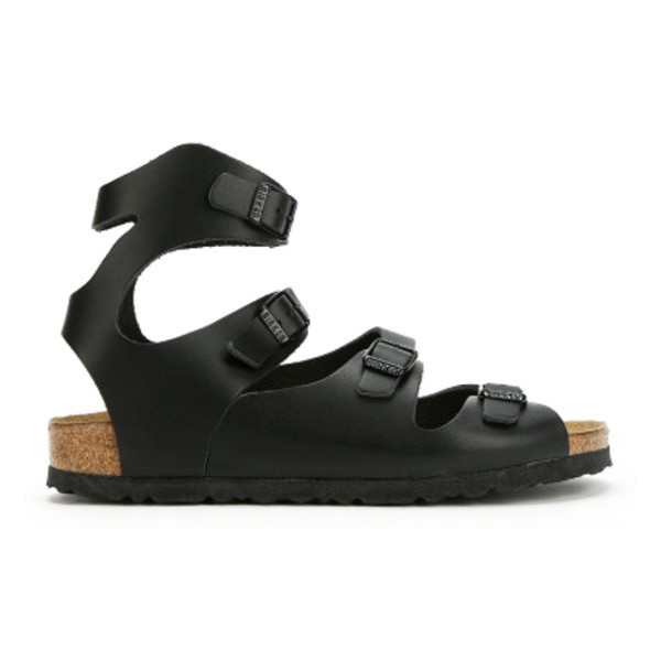 Birkenstock Athen Womens Sandals, Black Leather