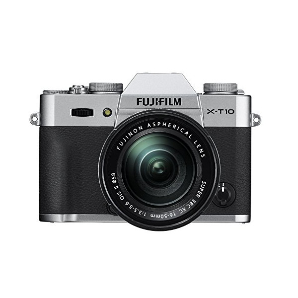 Fujifilm X-T10 OIS II Silver Mirrorless Camera Kit with XC 16-50mm F3.5-5.6 Lens